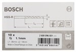 Bosch Wiertła do metalu HSS-R, DIN 338 1,1 x 14 x 36 mm 2608596551