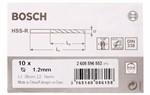 Bosch Wiertła do metalu HSS-R, DIN 338 1,2 x 16 x 38 mm 2608596552