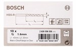 Bosch Wiertła do metalu HSS-R, DIN 338 1,6 x 20 x 43 mm 2608596556
