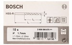 Bosch Wiertła do metalu HSS-R, DIN 338 1,7 x 20 x 43 mm 2608596670