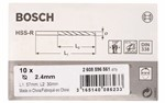 Bosch Wiertła do metalu HSS-R, DIN 338 2,4 x 30 x 57 mm 2608596561