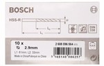 Bosch Wiertła do metalu HSS-R, DIN 338 2,9 x 33 x 61 mm 2608596564
