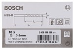 Bosch Wiertła do metalu HSS-R, DIN 338 3,6 x 39 x 70 mm 2608596566