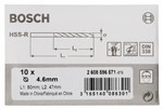 Bosch Wiertła do metalu HSS-R, DIN 338 4,6 x 47 x 80 mm 2608596571