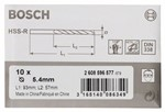 Bosch Wiertła do metalu HSS-R, DIN 338 5,4 x 57 x 93 mm 2608596577