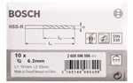 Bosch Wiertła do metalu HSS-R, DIN 338 6,2 x 63 x 101 mm 2608596586