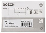 Bosch Wiertła do metalu HSS-R, DIN 338 6,7 x 63 x 101 mm 2608596589