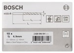 Bosch Wiertła do metalu HSS-R, DIN 338 6,9 x 69 x 109 mm 2608596591