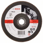 Bosch Listkowa tarcza szlifierska X571, Best for Metal D = 180 mm, K = 120, prosta 2608607333