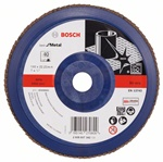 Bosch Listkowa tarcza szlifierska X571, Best for Metal D = 180 mm, K = 40, prosta 2608607342