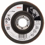 Bosch Listkowa tarcza szlifierska X581, Best for Inox 115 mm, 22,23 mm, 80 2608608265