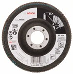 Bosch Listkowa tarcza szlifierska X581, Best for Inox 115 mm, 22,23 mm, 120 2608608266