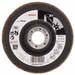 Bosch Listkowa tarcza szlifierska X581, Best for Inox 125 mm, 22,23 mm, 80 2608608278