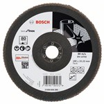 Bosch Listkowa tarcza szlifierska X581, Best for Inox 180 mm, 22,23 mm, 80 2608608286
