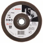 Bosch Listkowa tarcza szlifierska X581, Best for Inox 180 mm, 22,23 mm, 40 2608608288