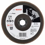 Bosch Listkowa tarcza szlifierska X581, Best for Inox 180 mm, 22,23 mm, 120 2608608291