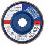 Bosch Listkowa tarcza szlifierska X431, Standard for Metal 115 mm, 22,23 mm, 120 2608601273