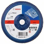 Bosch Listkowa tarcza szlifierska X431, Standard for Metal 180 mm, 22,23 mm, 40 2608601278