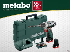Metabo Wiertarko-wkrętarka akumulatorowa PowerMaxx BS Basic Set 600080920